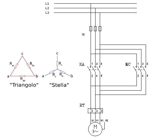 Schema Elettrico Traduzione : Schema elettrico avviamento motore stella triangolo car