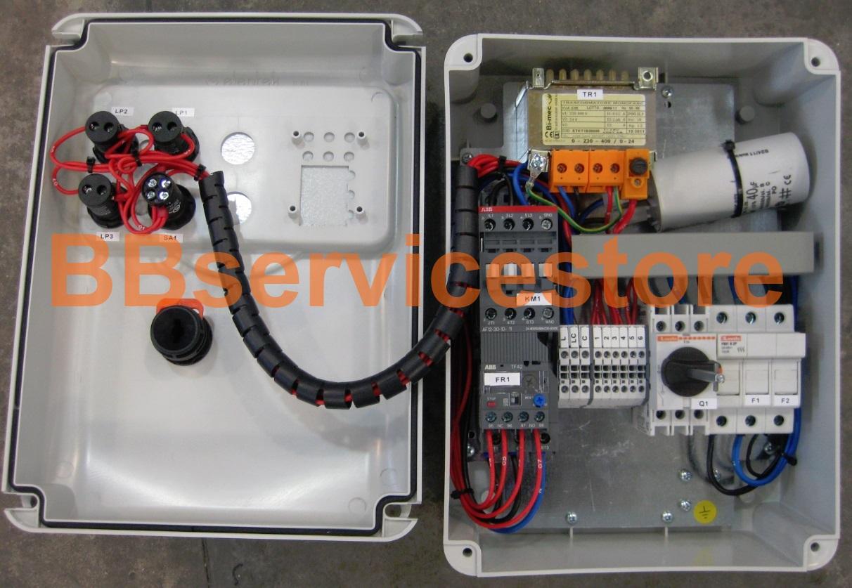 Schema Elettrico Per Motore Monofase : Quadro elettrico monofase di comando per motore o pompa